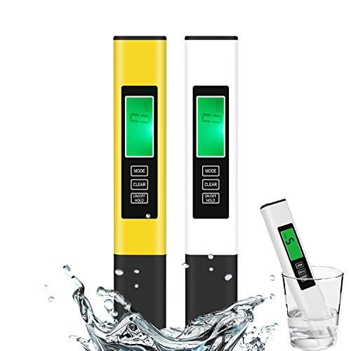TDS Meter, 2 Pack Digital Water Tester, Water Quality Tester, Temperature & EC Meter 4 in 1, 0-9999ppm, ppm Meter for Drinking Water, Aquarium and More