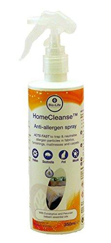 HomeCleanse Spray für Hausstaubmilben, Haustiere und andere Allergene