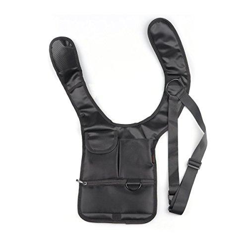 Itian diefstalbeveiliging portemonnee Holster Travel schoudertas mannen verstopte holster stijl tas multifunctioneel (zwart)