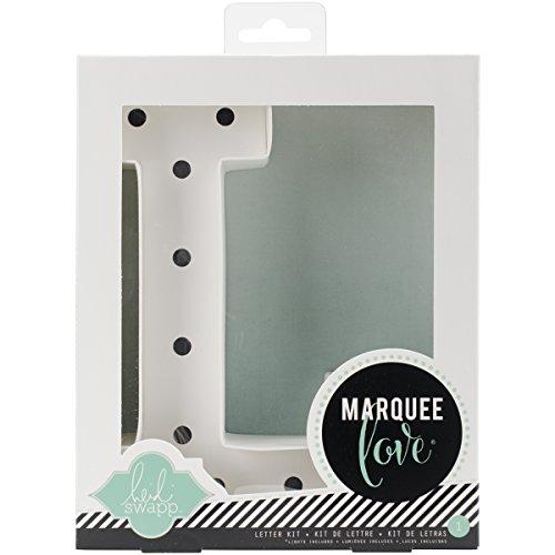 Heidi Swapp Marquee Love Led Letras L, Cartón, Blanco, 21.6x5.6x21.6 cm