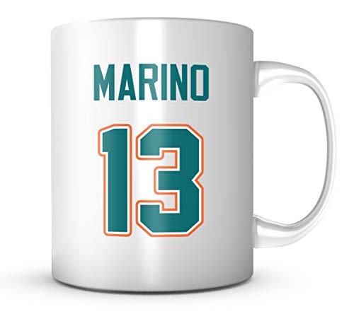 Dan Marino Mug - Miami Football Legend Jersey Number Coffee Cup