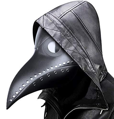 MeiGuiSha Schnabelmaske Halloween Maske Mittelalter Pest Maske Doktor Arzt Kopfmaske Steampunk Kostüm Zubehör für Erwachsene Halloween Party Fasching Karneval