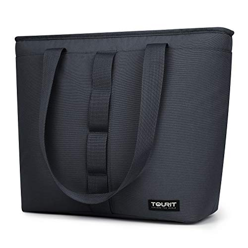TOURIT Cooler Tote Bag Large Lunch Bag Travel Cooler 30 Cans Soft Sided Cooler Bag for Men Women to Picnic, Camping, Beach, Work (Gray)