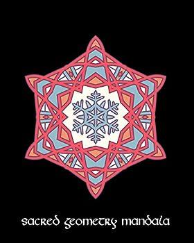 Sacred Geometry Mandala  Pink Blue Snowflake Mandala Art Journal Cover  Cornell Lined Notebook  Geometric Design for Yoga Meditation  Dream Diary or Notes for Work or School.