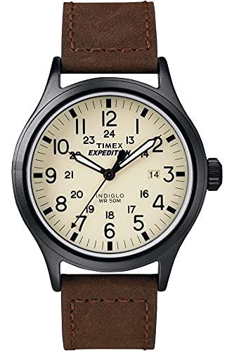 Timex Reloj análogico para Hombre de cuarzo con correa de cuero T49963