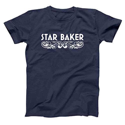 Star Baker Funny Cooking Great American British Baking Pastry Chef Womens Unisex Shirt Medium Navy