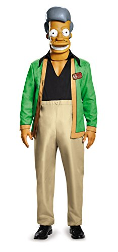 The Simpsons APU - Kwik E Mart Deluxe Adult Costume X-Large 42-46