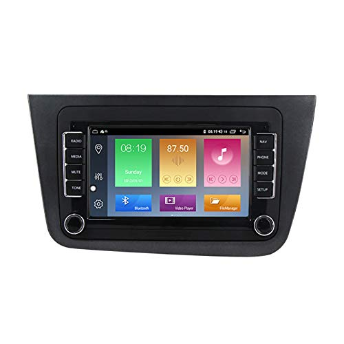 YLCCC Coche Estéreo Sat Nav Adecuado para Seat Altea 2004-2015 GPS Unidad de Cabeza estéreo GPS Touch Capacitivo HD Carplay Radio Multimedia Multimedia Radio Incorporado Tracker,4Core WiFi:2+32G