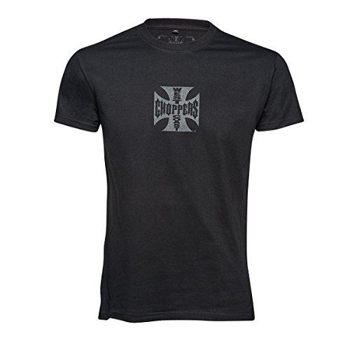 West Coast Choppers T-Shirt Iron Cross, Größe:M, Farbe:black