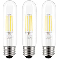 3-Pack ASOKO 4W Dimmable Tube Vintage T10 E26 LED Light Bulbs