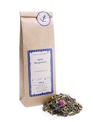 Grüner Tee lose Grüner Tee Morgenbrise Rosenblüten, Ringelblumen, Kornblumen Grüntee Aprikose-Bergamotte 250g