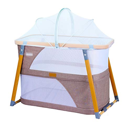 Best Review Of Portable Cribs 3 in 1 Portable Folding Baby Crib Multifunction Baby Nest Double Layer...