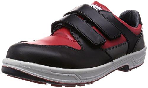 [シモン] 安全靴 短靴 マジック 8518 メンズ 赤/黒 24.0cm