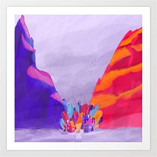 Afabel DIY-Patrón de Valle Pintar por Numeros Adultos Niños para DIY Pintura por números con Pinceles y Pinturas Decoraciones para el Hogar 45x45cm- sin Marco
