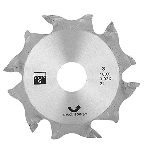 Sega circolare Disco smerigliatrice angolare Sega circolare Disco 100MM Argento denti in metallo finitura Seghe per lavorazione del legno per Industrial