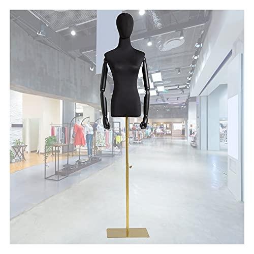 HAIPENG Maniquí de Costura Busto Hembra, Apoyos del Modelo con Brazos Madera Y Cabeza, Escaparate Soporte Exhibición Ropa Altura Ajustable, 2 Tamaños (Color : B, Size : Small)