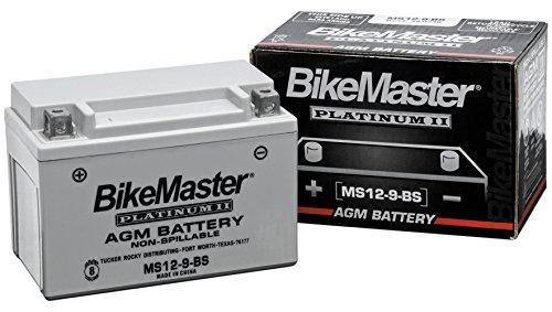 BikeMaster MS12-7B-BS BM AGM Platinum II Motorcycle Battery - 150L X 65W X 92H mm