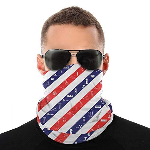 Barber Shop Equipo de la bandera de la cabeza de la protección de la cara, pasamontañas para el cuello