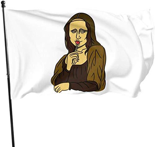 Viplili Stoned Mona Lisa Home Bandera del jardín for