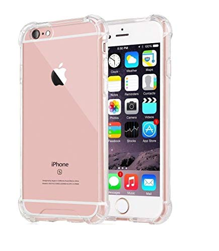 Amazon Brand - Solimo Mobile Cover (Soft & Flexible Shockproof Back Cover with Cushioned Edges)Transparent for Apple iPhone 6s Plus
