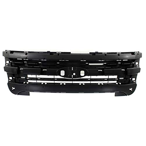 For Ford Explorer Header Panel 2011 12 13 14 2015 | Inner Grille Mounting Panel | Black | CAPA | FO1223118 | BB5Z8A284AA