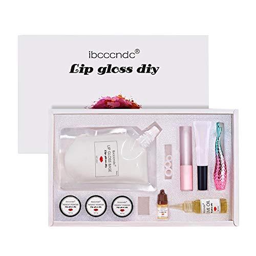 Moisturizing Clear Lip Gloss Base Oil Kit Non-toxic Non-Stick DIY Lip Stick Raw Material Gel Primers for Lipgloss Base Handmade Liquid Lipsticks Lip Glaze Tools
