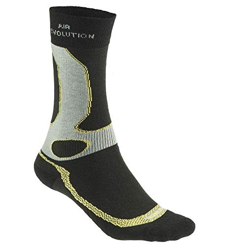 Meindl Revolution Dry- Sock Wander-Trekking Socken, schwarz/anthrazit, 36 bis 39