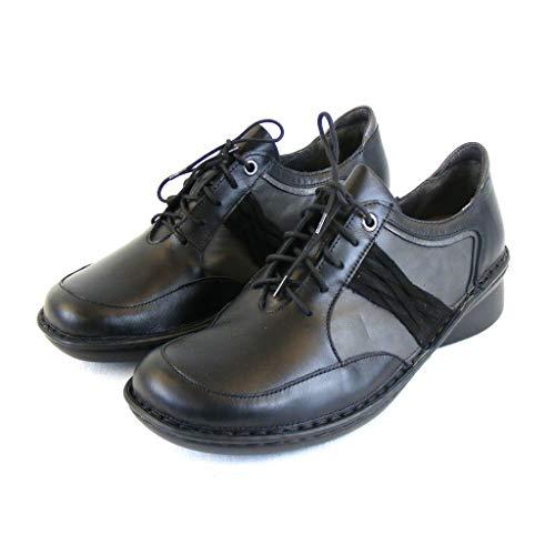 NAOT Footwear Women's Mezzo Lace-up Shoe Black Raven Lthr Combo 11 M US