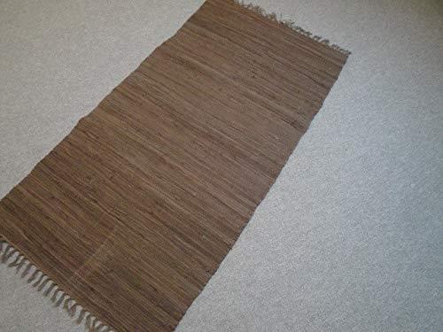 Garmisch Kilim Tessuto a mano dall' India Marrone Marrone 100% cotone tessuto a mano, marrone, 1.40 x 0.70 m