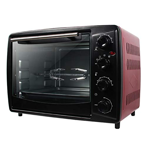 32L Mini Oven, 1500W,automatic Roast Chicken & 60 Minutes Timer, Toaster Oven, Multi-Function Independent Temperature Control, Countertop Oven