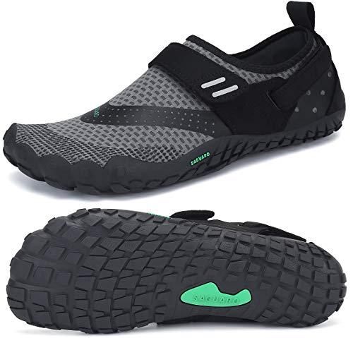 SAGUARO Trail-Laufschuhe für Männer Frauen Leicht Barfußschuhe Unisex Erwachsene Wassersportschuhe Quick Dry Wandern Schuhe rutschfest Barfussschuhe Verschleißfest Aquaschuhe Outdoor Sport, Grau 47