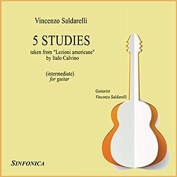 """Saldarelli: Five Studies (from """"Lezioni Americane"""" by Italo Calvino)"""