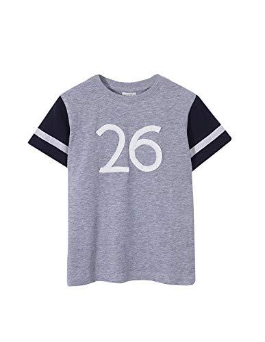 Gocco Oxford Crew Balnca Camiseta, Gris (Gris Melange S02tccca101gg), 3 años (Tamaño del Fabricante: T: 3-4) para Niños