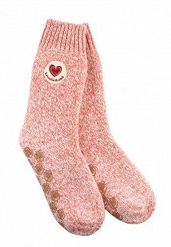 Adelheid Damen Socken Herzallerliebst Stricksocken Rosa 610, 39/42 (Herstellergröße: M)