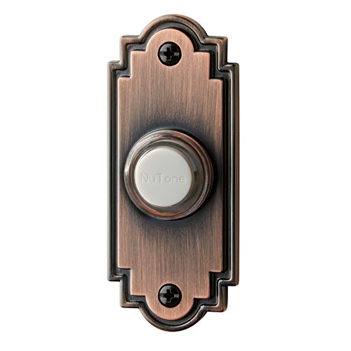 Broan-NuTone PB15LBR Wired Lighted Door Chime Push Button, Oil-Rubbed Bronze