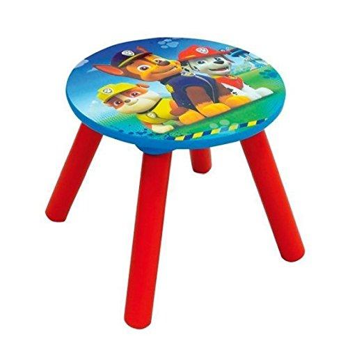 Nickelodeon Patte - Taburete para niño (28 cm), color azul y rojo