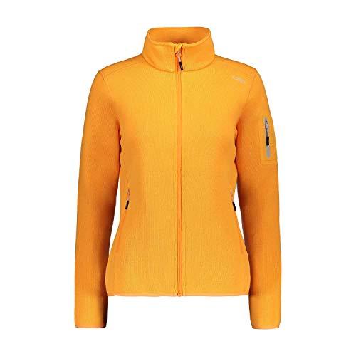 CMP Damen Jacke Knitted Melange Fleece Jacket 3H14746 Solarium-Stone 44