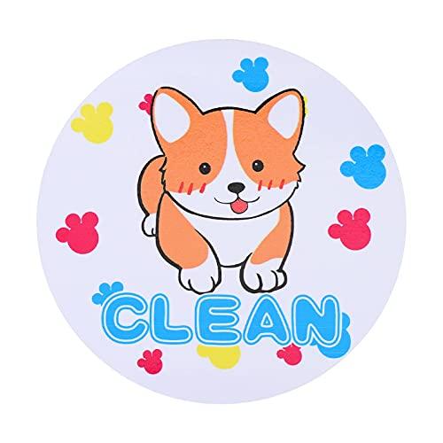OSALADI Dishwasher Clean Magnet Sign Double Single Sided Magnetic Dishwasher Sticker Corgi Dog Style Dishwasher Machine Fridge Magnet Sticker