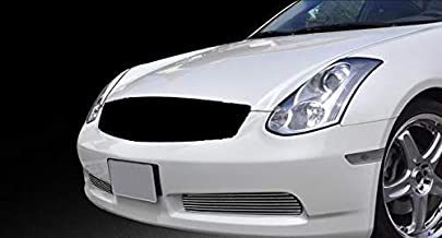 ShopDone Fits 03-07 Infiniti G35 2 Door Coupe Bolton Lower Bumper 2PC Horizontal Billet Polished Aluminum Grille Grill Inser