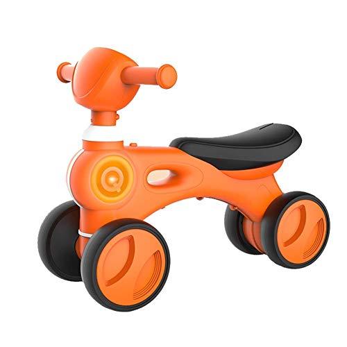 Stunt Vespa plegable kick scooter, Shining infantil Niños equilibrio del coche de bebé Vespa Juguetes for montar Andador con música de cuatro ruedas de la bicicleta de plástico Juego for 1-3Y truco em