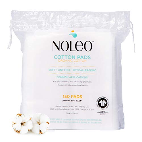 Fluffy Cotton Pads Compatible with Diaper Cleanser and Makeup Products, Eye Makeup Remover Pads and Baby Wipes, Large, 150 Count - Noleo