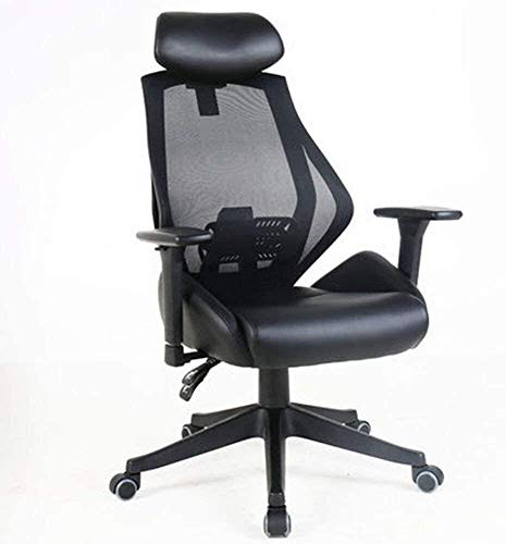 CHHD Bürostuhl, Sessel Stuhl ComputerstuhlHaushalt Boss Bürostuhl Liegende Mittagspause Heben Handlauf Schwarz (Farbe: A)