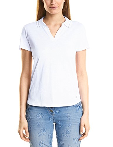 Cecil Damen 312080 T-Shirt, White, Small