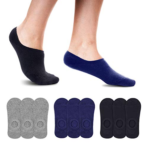 Smart Sir Füßlinge Sneaker Socken Herren Damen 9 Paar Footies Unsichtbare Baumwollsocken Invisible Anti Rutsch Füßlinge Socken mit Silikonstreifen