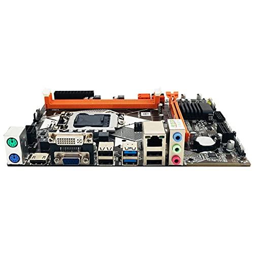 Greatangle-UK B85 LGA1150 para Placa Base con para Intel Core I7 / i5 / i3 / Pentium/Celeron Memoria de Escritorio USB 3.0 VGA DVI Compatible con HDMI Negro