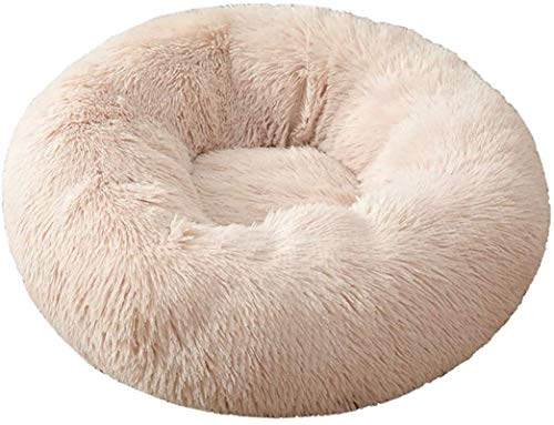 Pet bed Pets Warm Plush Donut Pet Bed Dog Cat Round Cuddler Kennel Soft Puppy Cushion Bed Sleeping Bag Orthopedic Relief Improved Sleep Anti-Slip Bottom Machine Washable Calming ( Color : 21 , Size :