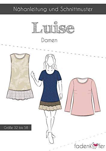 Schnittmuster und Nähanleitung - Damen Tunika Kleid Oberteil - Luise