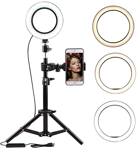 LED Selfie Ring Light met statief en mobiele telefoonhouder voor livestream TIK Tok Video Makeup Vlog-fotografie