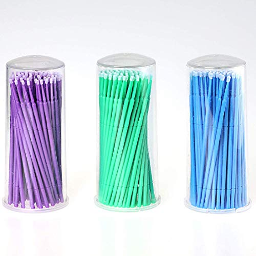 Meilulan 300 Repair Paint Brushes, for Automotive Paint chip Repair, Clearance Cleaning, Available in 2.5 mm, 2 mm and 1.5 mm