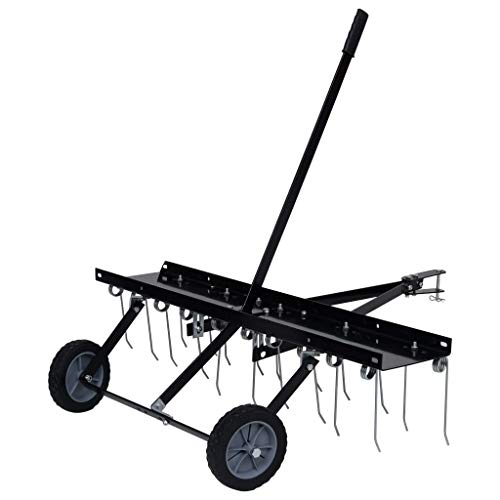 vidaXL Vertikutierer für Aufsitzmäher 20 Zähne Entmooser Rasenkamm Rasentraktor ATV Rasen Rasenlüfter Rasenstriegel 100cm Stahl 14kg
